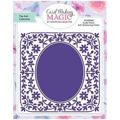 Card Making Magic Embossing Folder Leafy Frame | 6x6 Collection by Christina Griffiths