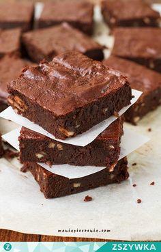 Zobacz zdjęcie Zdrowe Brownie. (BEZ GLUTENU, CUKRU, LAKTOZY) Wilgotne, obłędnie czekoladowe, naturalnie słodkie. Przepis po kliknięciu w zdjęcie (maniapieczenia.com) w pełnej rozdzielczości
