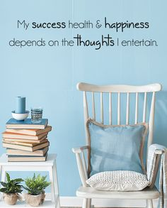 My success health & happiness slim wall quote