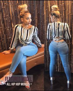 Fashionista Women in Africa ( Women In Africa, Jeans Azul, Blue Jeans, Girl Fashion, Womens Fashion, Female Fashion, Fashion Updates, Sexy Curves, Beautiful Black Women
