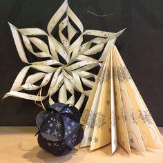 Papieren kerst creaties