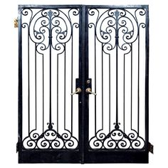 View this item and discover similar for sale at - Set of wrought iron doors acquired from Harry and Leona Helmsley estate in Greenwich, CT Gate Design, House Design, Cnc Cutting Design, Landscape Curbing, Wrought Iron Doors, Beautiful Homes, House Beautiful, Grill Design, Iron Gates
