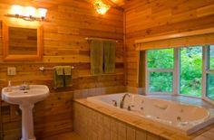Master Bathroom Ideas for a Log Cabin