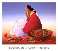 Navajo Chilis Print by R. C. Gorman