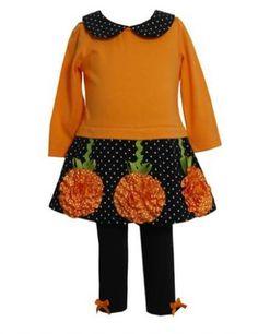 Girls Collared Pumpkin Dress & Legging Set PreorderPersonalize It!Newborn to 6X