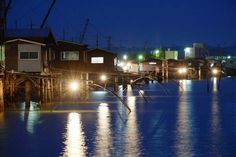 岡山県四つ手網小屋