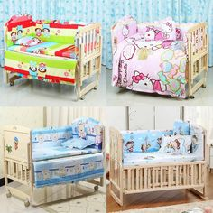 5PCS/set 120x70cm Infant Baby Cot Bedding Set For Girl Boys Bedding Set