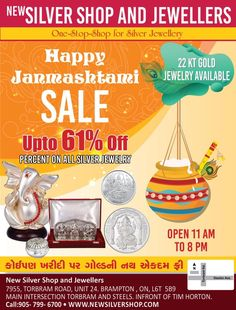 Purchase on this & get Discount Upto OFF on All Visit New Silver Shop and Jewellers located at 7955 Torbram Road, Brampton, ON Canada Jewelry Shop, Jewelry Stores, Jewelry Design, Happy Janmashtami, Silver Shop, Ring Necklace, Sterling Silver Jewelry, Ale, Jewels