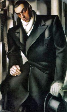 Tadeusz de Lempicki (Portrait of the Artist's Husband), unfinished  1928 - Tamara De Lempicka