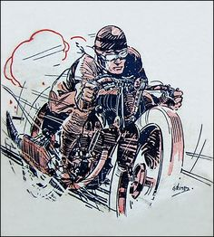 1930's Brough Superior Race Graphic by bullittmcqueen, via Flickr