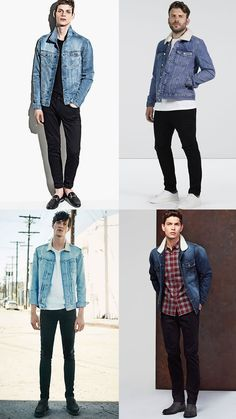 627297515f Men s Black Jeans With Light Wash Denim Jackets Combinations Levi Denim  Jacket
