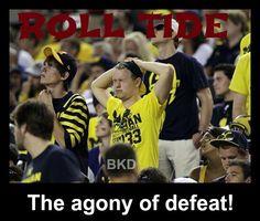 Alabama - 41  v  Michigan -14  Sept. 01, 2012         Dallas, TX      ROLL TIDE!!!!