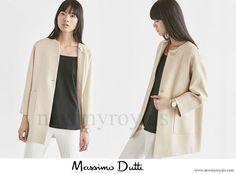 Massimo Dutti Textured Weave Linen Coat
