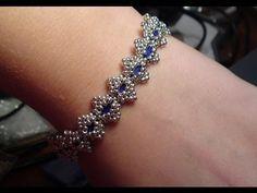Bollywood Bracelet with Tila beads Beading Tutorial by HoneyBeads (Photo tutorial)