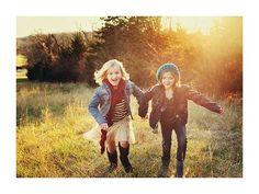 Love the kids running!