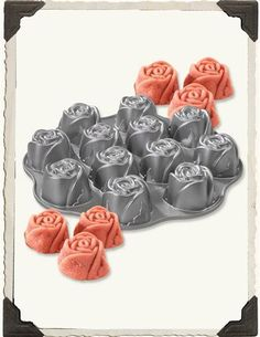 dozen roses cupcake pan, ideal for valentine give aways or desserts (use it with red velvet cakemix!) seen here: http://www.victoriantradingco.com/item/81-kn-8122317/101103/dozen-roses-cupcake-mold