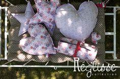Assortiment coussins et plaid lit enfant Bientôt dans la nouvelle collection www.reglissecollection.com