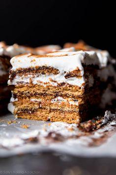 No-Bake S'mores Cake - Sallys Baking Addiction