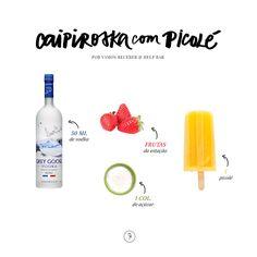 Uma caipiroska que pode ser montada com frutas e sabores diversos. Para brindar este Carnaval com cores, o Help! Bar nos ensinou mais essa receita!