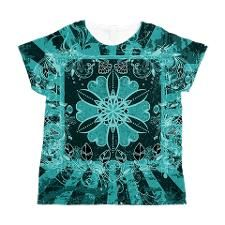 Pretty Turquoise Sunshine Star Design Women's All
