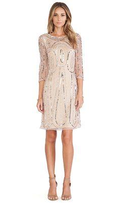 Raga Long Sleeve Sequin Dress in Gold | REVOLVE