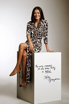 """Hikari Yokoyama in #SoDVF in the Anima Wrap Dress. Her mantra: """"The only moment we can know fully is now."""""""