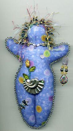 spirit dolls | Beaded Spirit Dolls - Artwork by Beader and Enamelist Karen L. Cohen