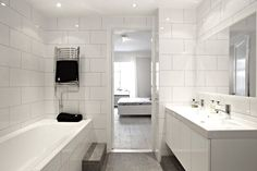 black and white bathroom Grey Bathrooms, White Bathroom, Small Bathroom, Bathroom Inspo, Bathroom Inspiration, Bathroom Ideas, Bad Inspiration, Washroom, Powder Room