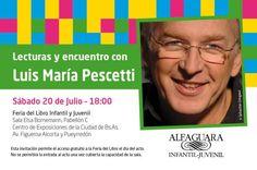 Lecturas y encuentro con Luis María Pescetti en la Feria del Libro Infantil y Juvenil de Buenos Aires (2013).