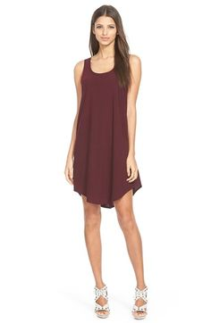 Burgundy dress- could see this layered with a sweater, blazer, poncho or scarf for more coverage