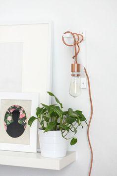 lampe-glühbirnenform-diy-deko-wand-installation
