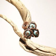 Blue stone ring turquoise ring copper turquoise ring | Etsy Copper Wire Jewelry, Copper Necklace, Copper Bracelet, Wire Wrapped Jewelry, Copper Anniversary Gifts, Copper Gifts, Turquoise Rings, Gifts For Wife, Stone Rings
