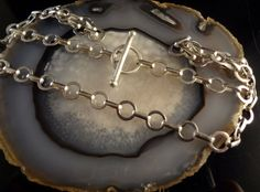 Wide Chain With Toggle Clasp Handmade 925 by Tamsjewelrydesigns