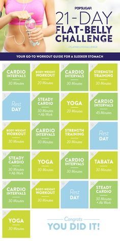 21 Day Cardio and Abs Challenge