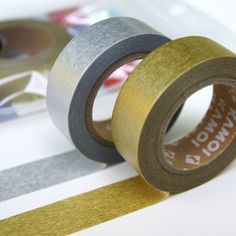 metallic washi- think of the possibilities! {I want these so much!!!}