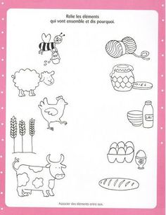 Crafts,Actvities and Worksheets for Preschool,Toddler and Kindergarten.Lots of worksheets and coloring pages. Animal Activities, Preschool Learning Activities, Free Preschool, Kindergarten Worksheets, Kids Learning, Farm Animals Preschool, Animals For Kids, Farm Lessons, Farm Unit