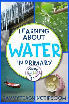 I have just finished a Science / ELA unit on WATER. I included some levelled readers and some levelled reading passages too. There are writing activities and also some Science experiments. There are lots of visual aids like word wall cards and photo cards. Primary Science, Elementary Science, Elementary Teacher, Science Education, Science Lessons, Stem Science, Science Resources, Earth Science, Science Experiments