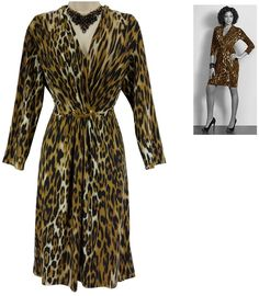 XL X-LARGE SEXY Womens LEOPARD PRINT DRESS Fall Day/Evening Cocktail Party…