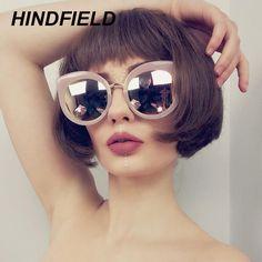 Pink Cat Eye Sunglasses Women Brand Designer Black Round Lens Mirror Sun Glasses 2017 Style Female Oculos Gradient lunette #Affiliate