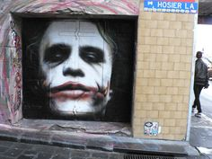 Heath Ledgers as Joker - In Hosier Lane, Melbourne, Australia
