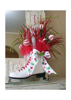 Adorable Christmas Ice Skate Arrangement