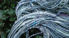 Handspun Yarn Core Spun Blues and White with by Gardner Street