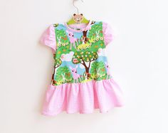 The BAMBI Dress is the sweetest and simplest knit dress for little Girls!!  It can be sewn in a few hours with jersey.    The style is FRILLY with