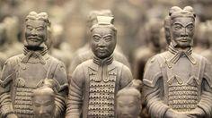 Die Terrakotta Armee von dem ersten Kaiser Chinas. Bis heute ist nur ein kleiner Teil der gigantischen Grabanlage entdeckt.