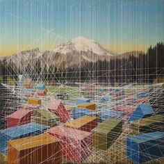 Shipping Shapes: Perspective Drawing Lines Form Containerized Landscapes | Urbanist