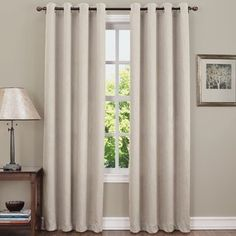 Enjoy the sophisticated effect of the Sun Zero Hanson Room Darkening Grommet Curtain Panel . This single curtain panel fades from light up top to dark. Room Darkening Curtains, Grommet Curtains, Blackout Curtains, Drapes Curtains, Window Panels, Window Coverings, Window Treatments, Home Cooler