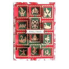 Anna Griffin® 12 Days of Christmas Mini Die Set - 9633129 | HSN Twelve Days Of Christmas, Christmas Minis, Christmas Projects, Anna Griffin Cards, Homemade Christmas Cards, Merry And Bright, Scrapbook Pages, Scrapbooking, Card Making