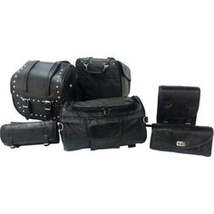 Diamond Plate 6pc Motorcycle Bag Set – Go Power Gear