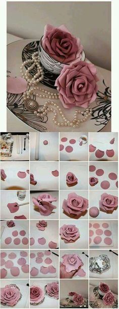 Fondant Blume  cake decorating ideas