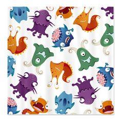 Monster Mash Print Shower Curtain